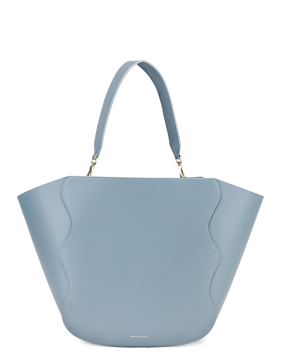 Image 1 of Mansur Gavriel Ocean Tote in Grey Blue