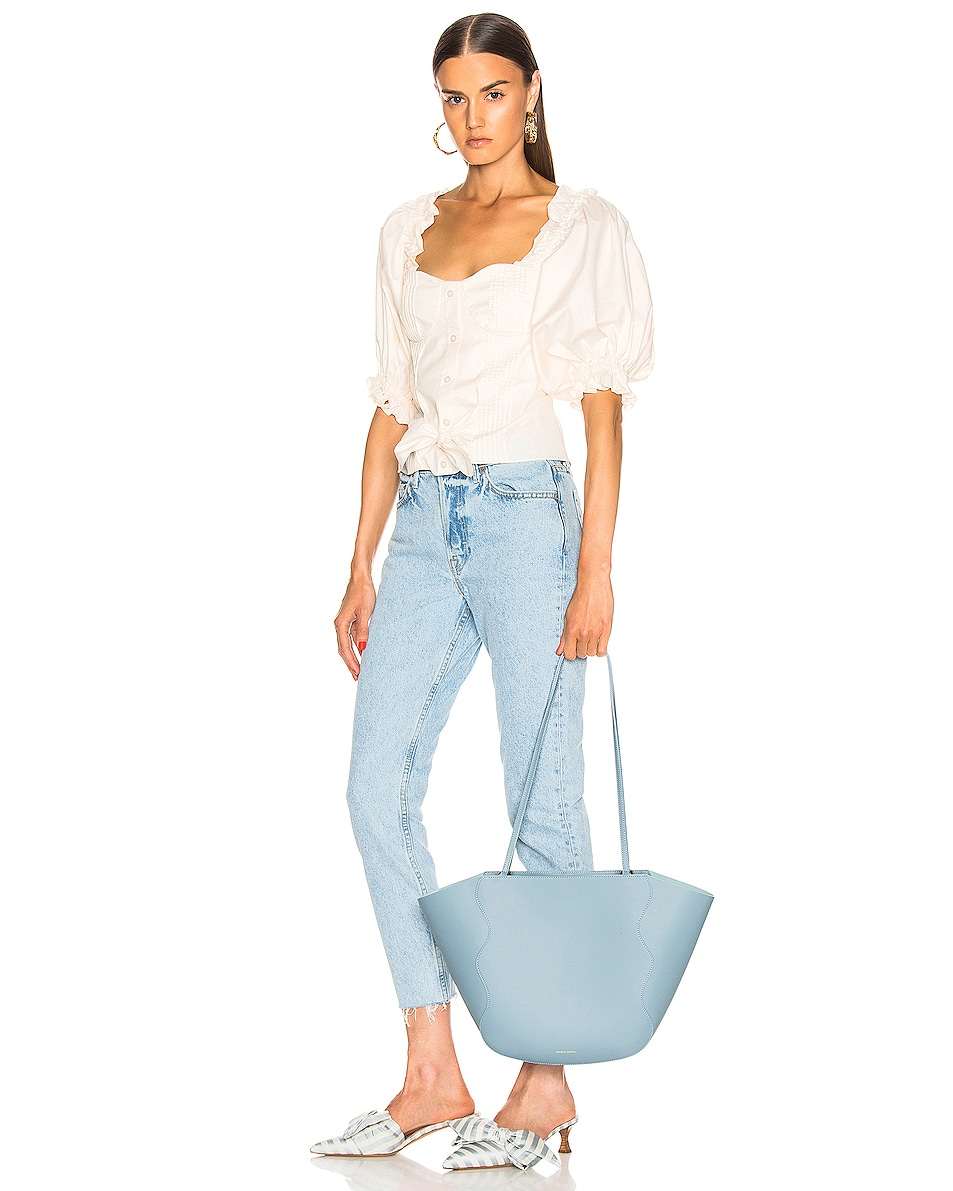 Image 2 of Mansur Gavriel Ocean Tote in Grey Blue