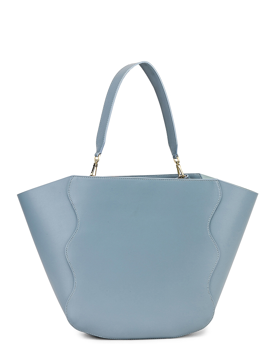 Image 3 of Mansur Gavriel Ocean Tote in Grey Blue