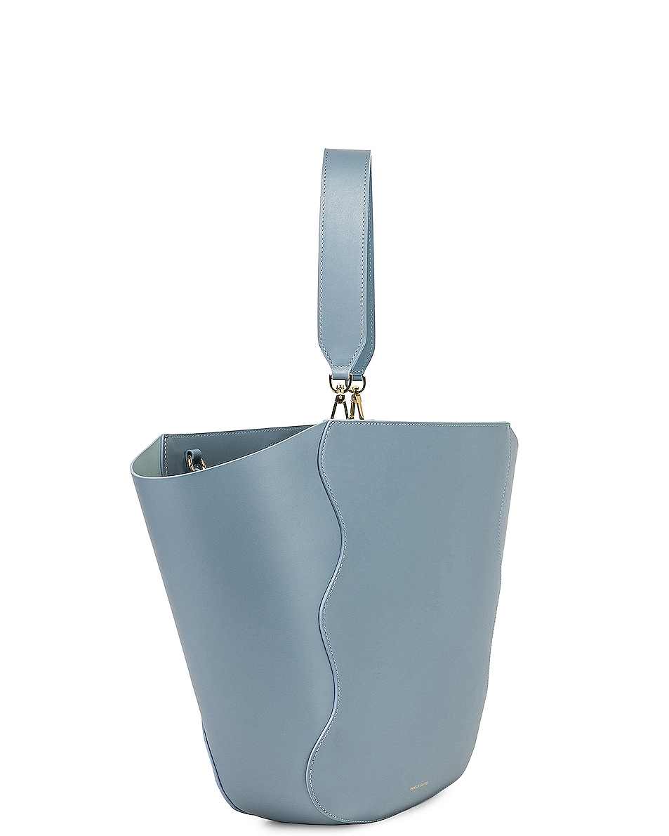 Image 4 of Mansur Gavriel Ocean Tote in Grey Blue