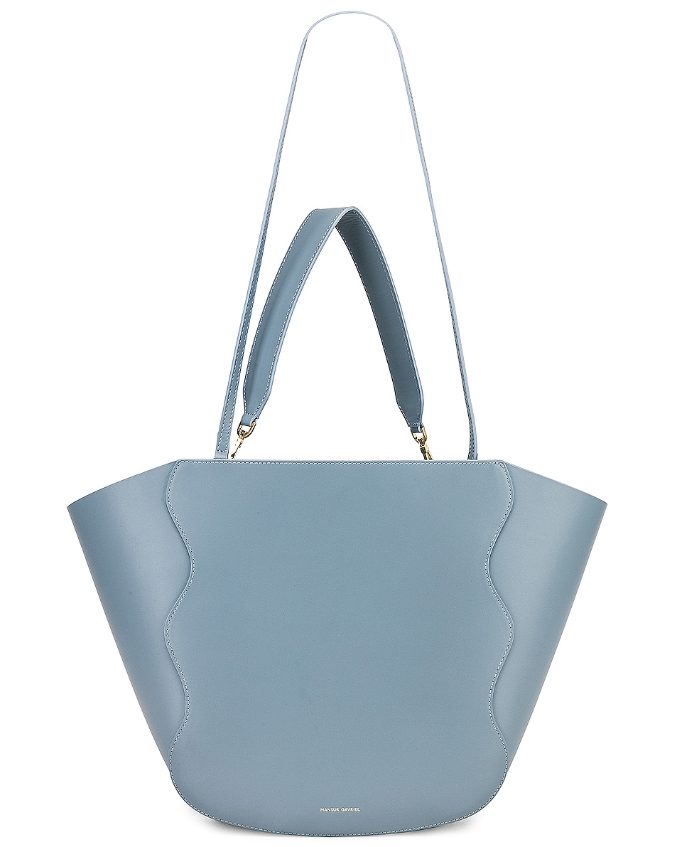 Image 6 of Mansur Gavriel Ocean Tote in Grey Blue