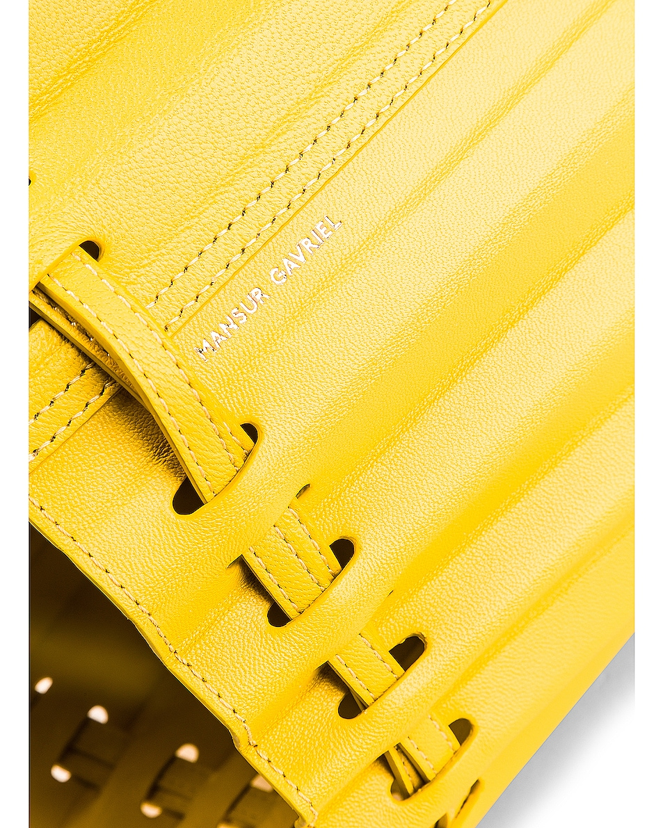 Image 7 of Mansur Gavriel Pleated Bucket in Sun