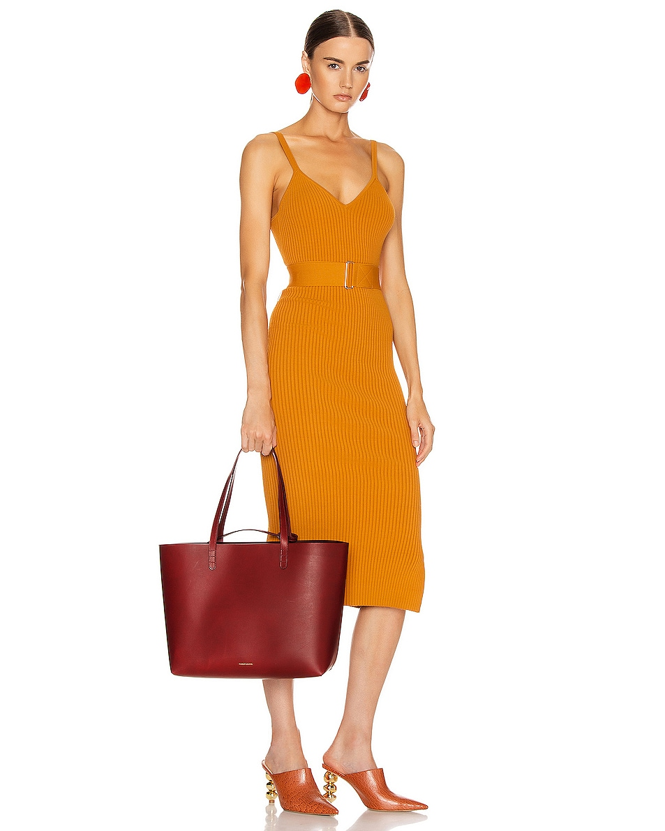Image 2 of Mansur Gavriel Large Tote Bag in Bordo