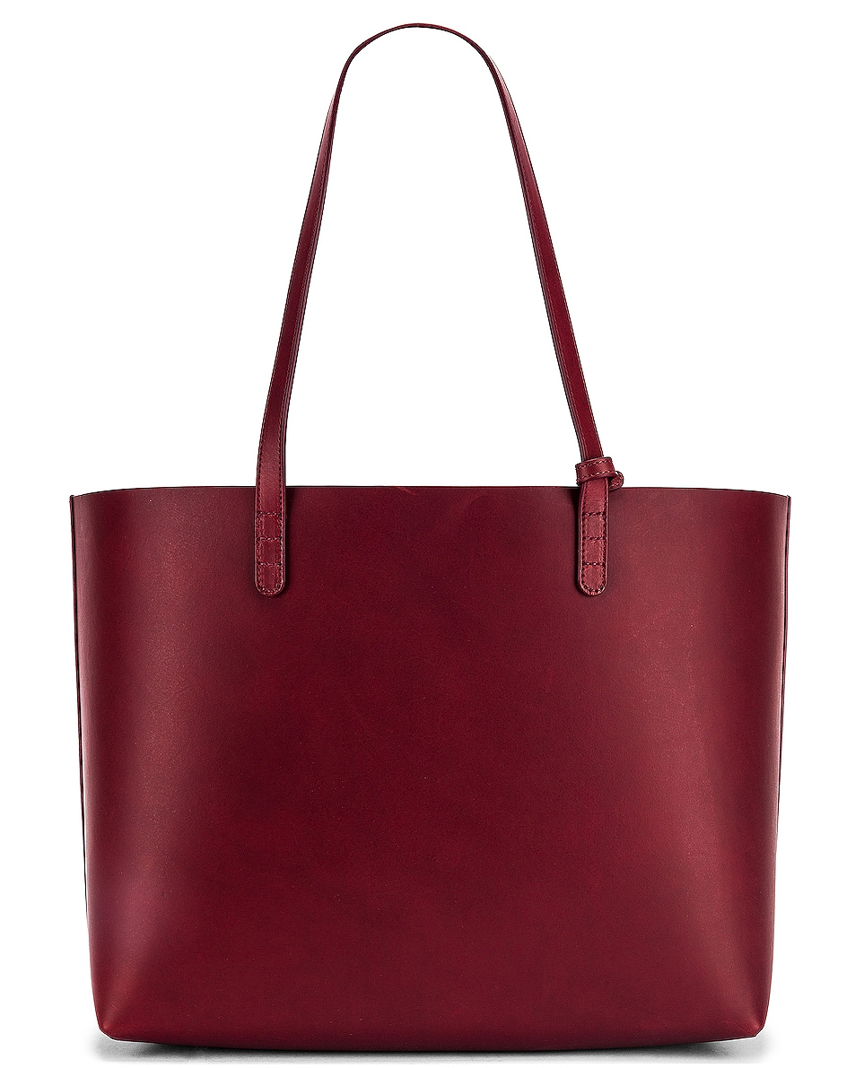 Image 3 of Mansur Gavriel Large Tote Bag in Bordo