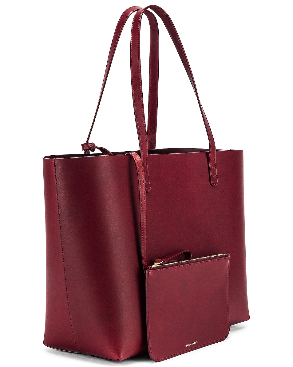 Image 4 of Mansur Gavriel Large Tote Bag in Bordo