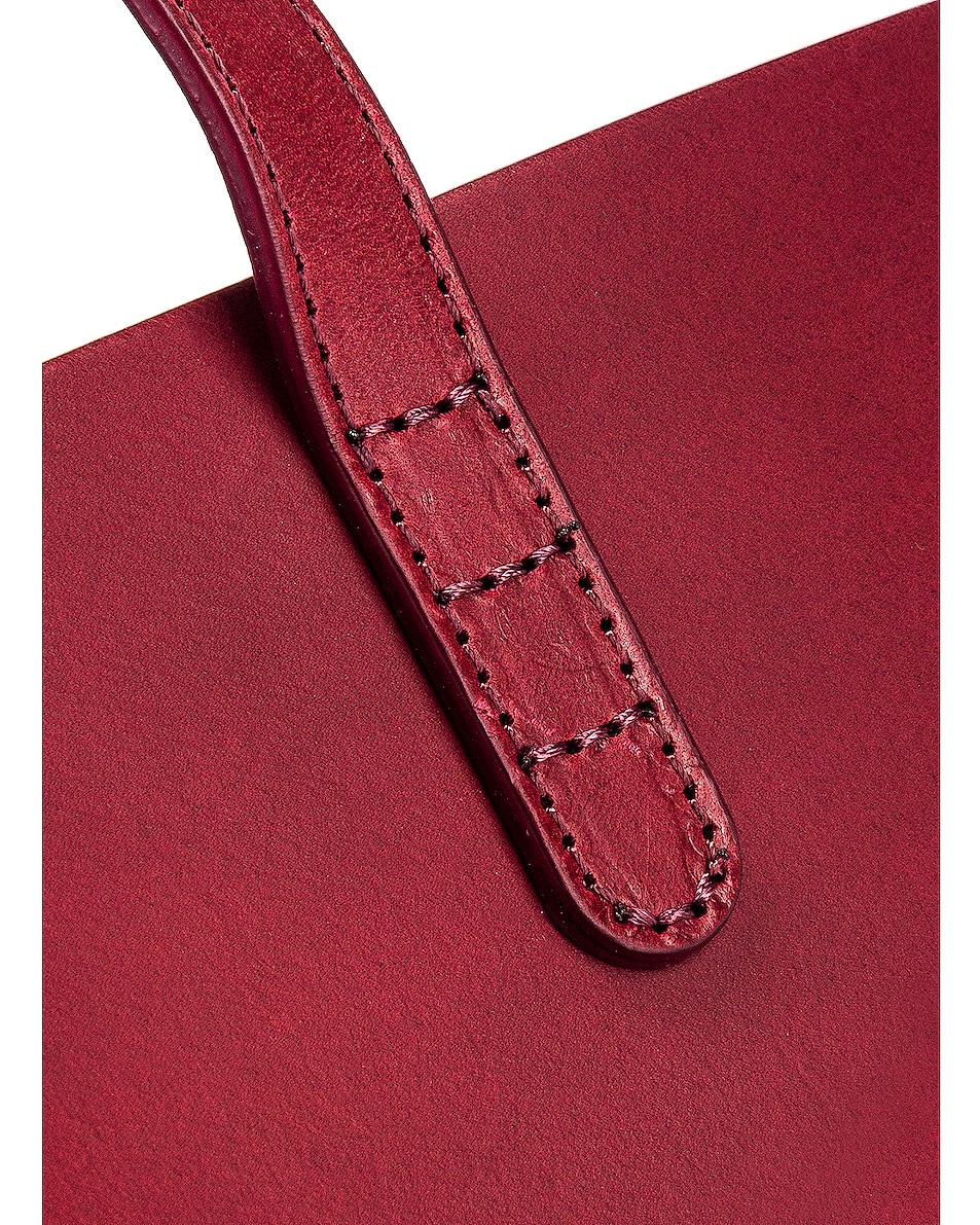 Image 7 of Mansur Gavriel Large Tote Bag in Bordo