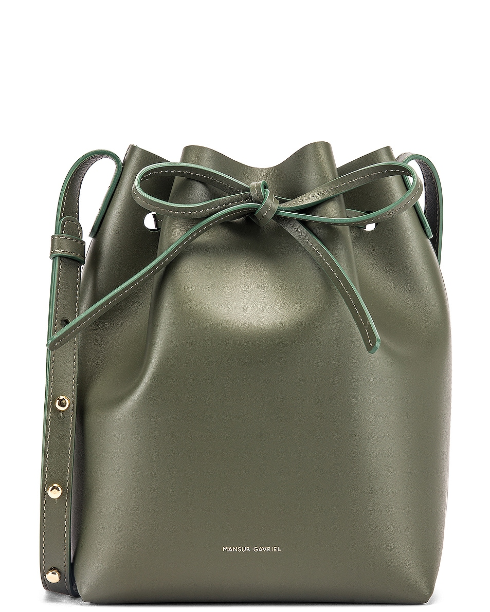 Image 1 of Mansur Gavriel Mini Bucket Bag in Leaf