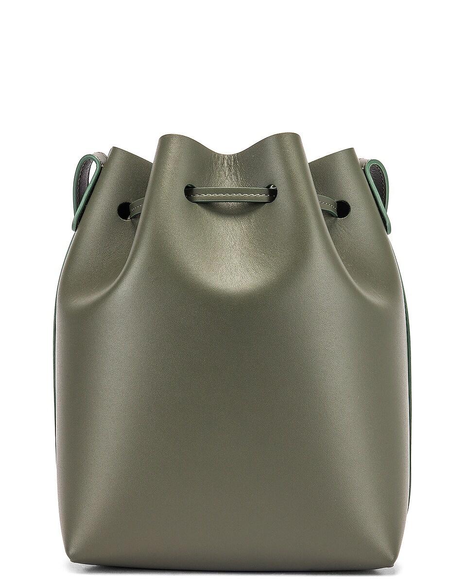Image 3 of Mansur Gavriel Mini Bucket Bag in Leaf