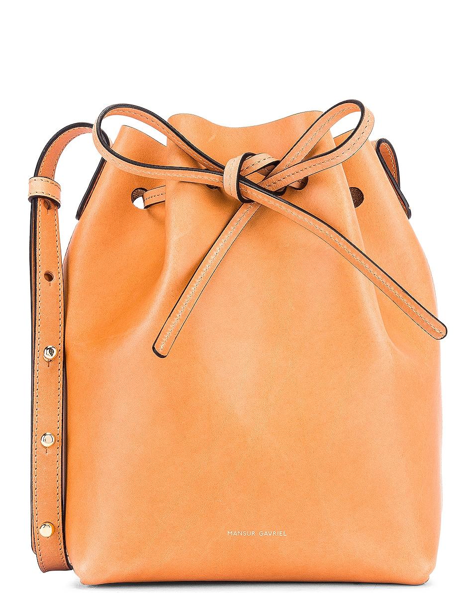 Image 1 of Mansur Gavriel Mini Bucket Bag in Cammello