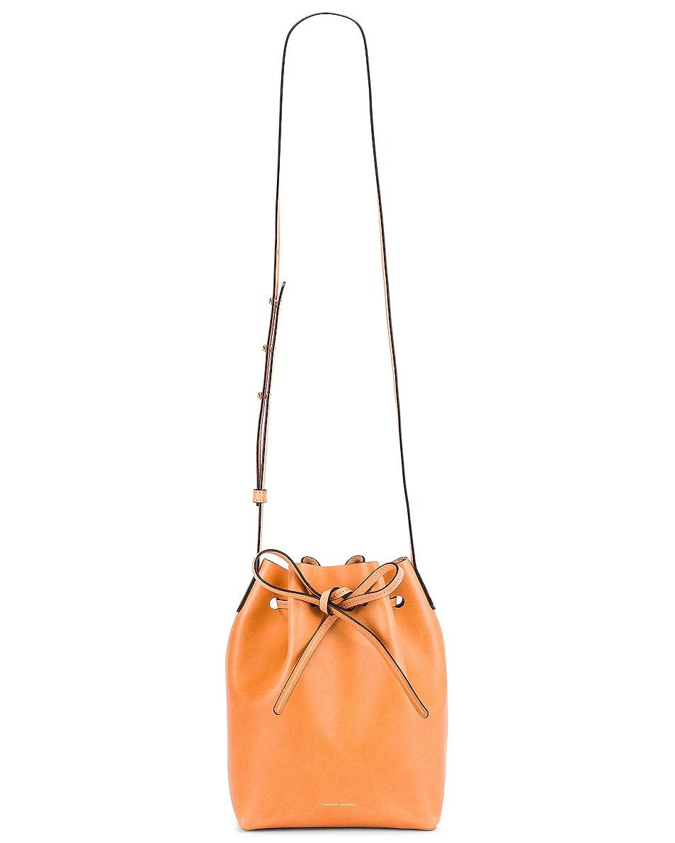 Image 6 of Mansur Gavriel Mini Bucket Bag in Cammello