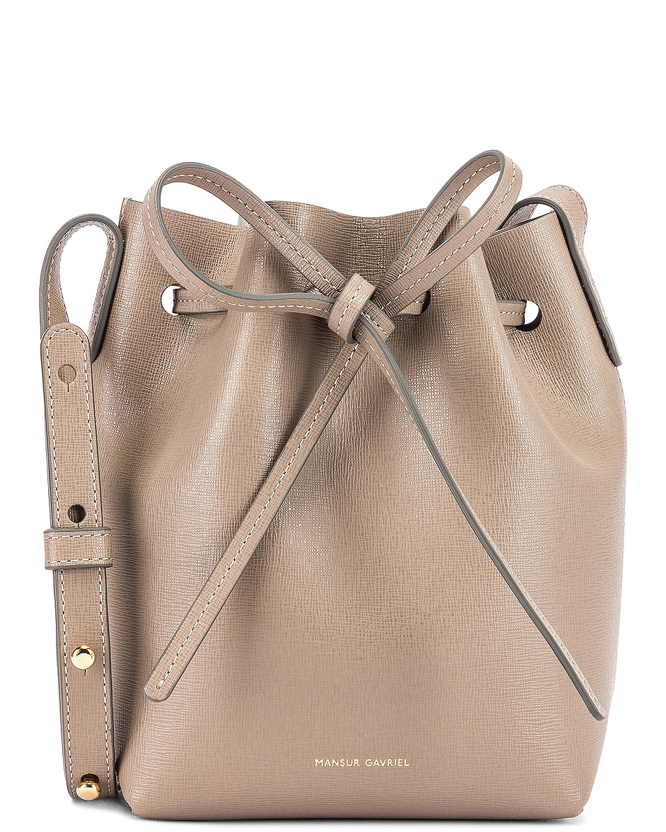 Image 1 of Mansur Gavriel Mini Mini Bucket Bag in Elefante