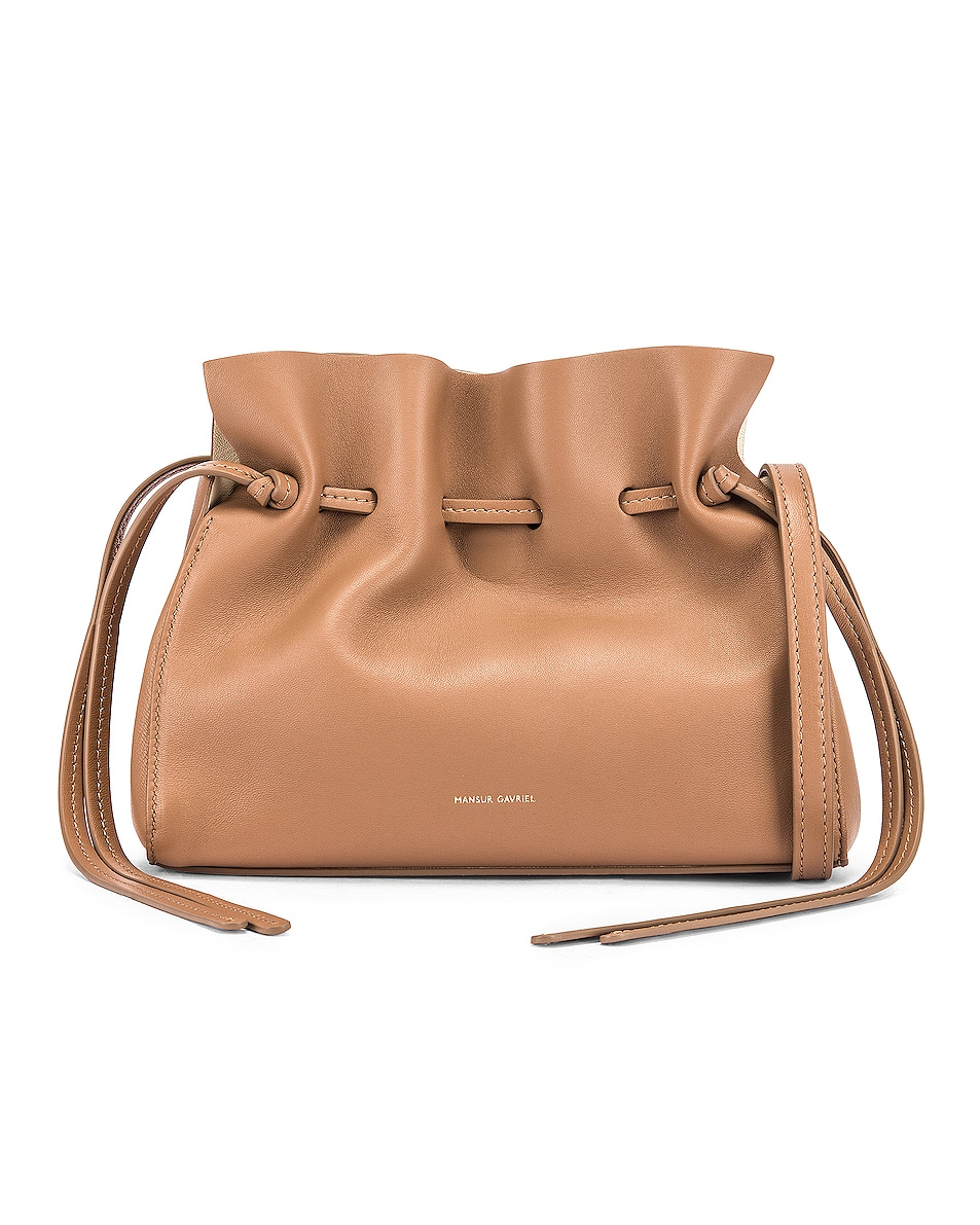 Image 1 of Mansur Gavriel Mini Protea Bag in Biscotto & Creme