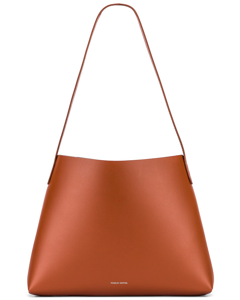 Image 1 of Mansur Gavriel Small Hobo Bag in Ginger