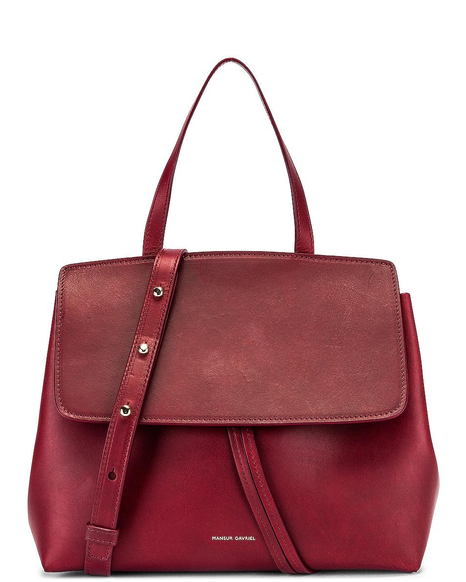 Image 1 of Mansur Gavriel Mini Lady Bag in Bordo