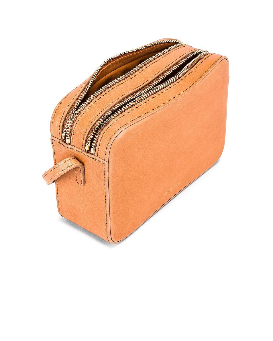 Image 4 of Mansur Gavriel Double Zip Crossbody Bag in Cammello