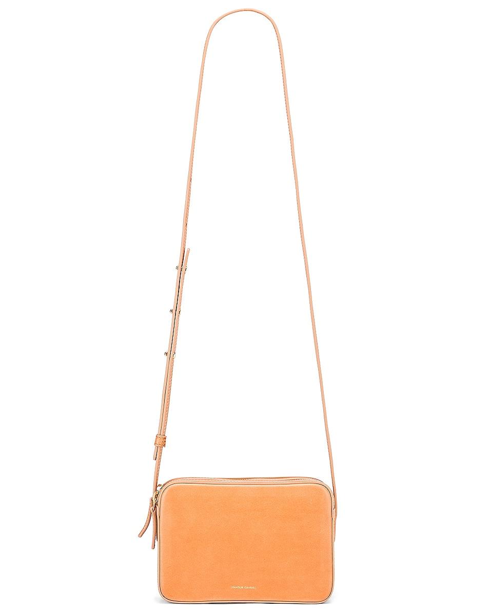 Image 5 of Mansur Gavriel Double Zip Crossbody Bag in Cammello