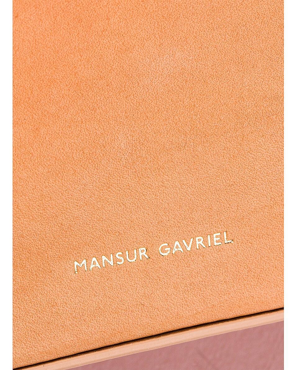 Image 6 of Mansur Gavriel Double Zip Crossbody Bag in Cammello