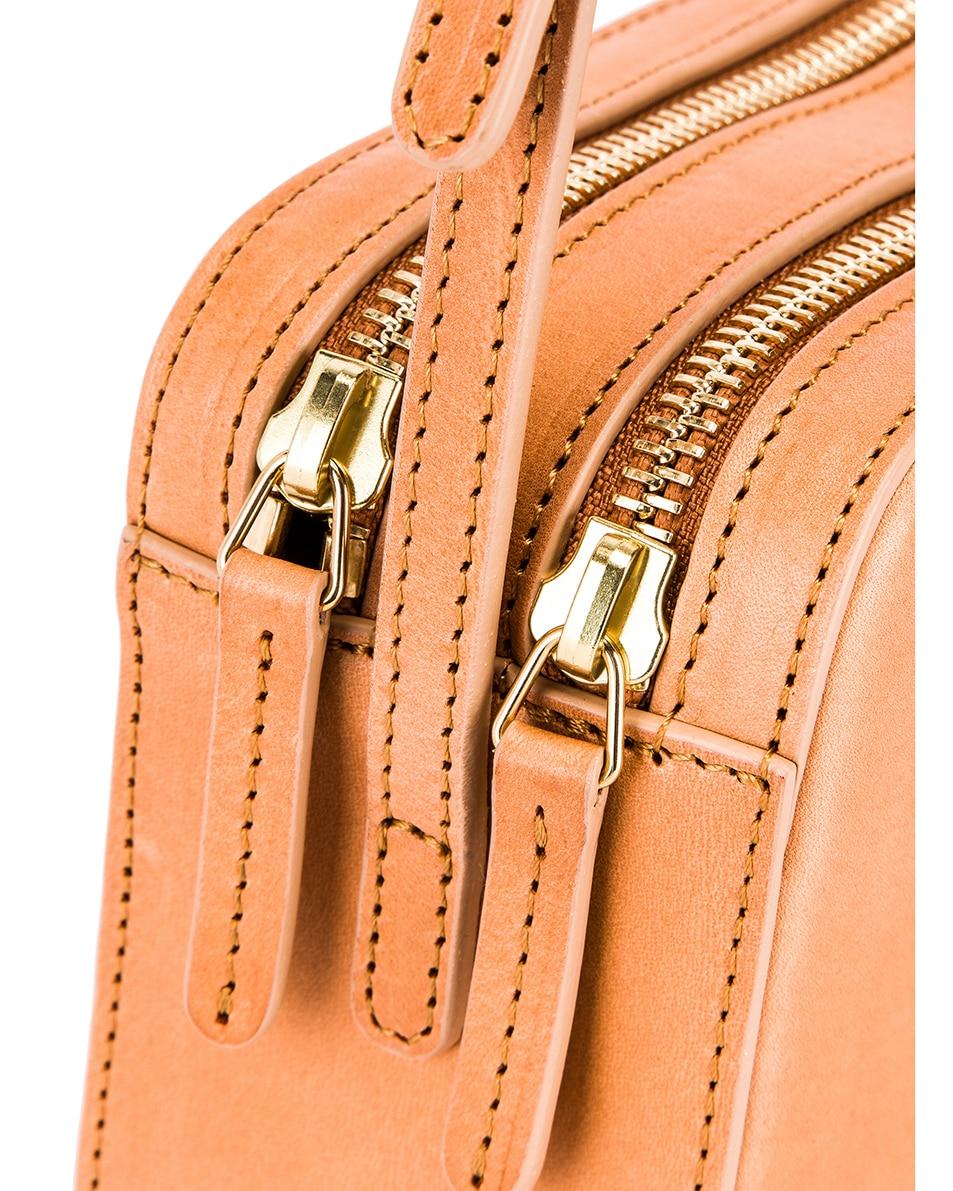 Image 8 of Mansur Gavriel Double Zip Crossbody Bag in Cammello