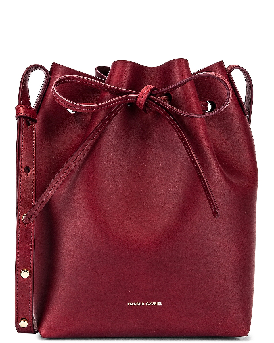 Image 1 of Mansur Gavriel Mini Bucket Bag in Bordo