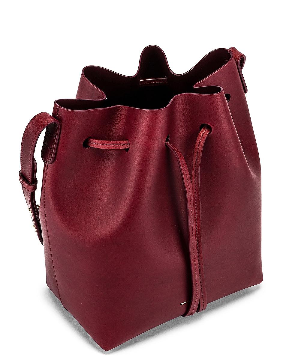 Image 5 of Mansur Gavriel Mini Bucket Bag in Bordo