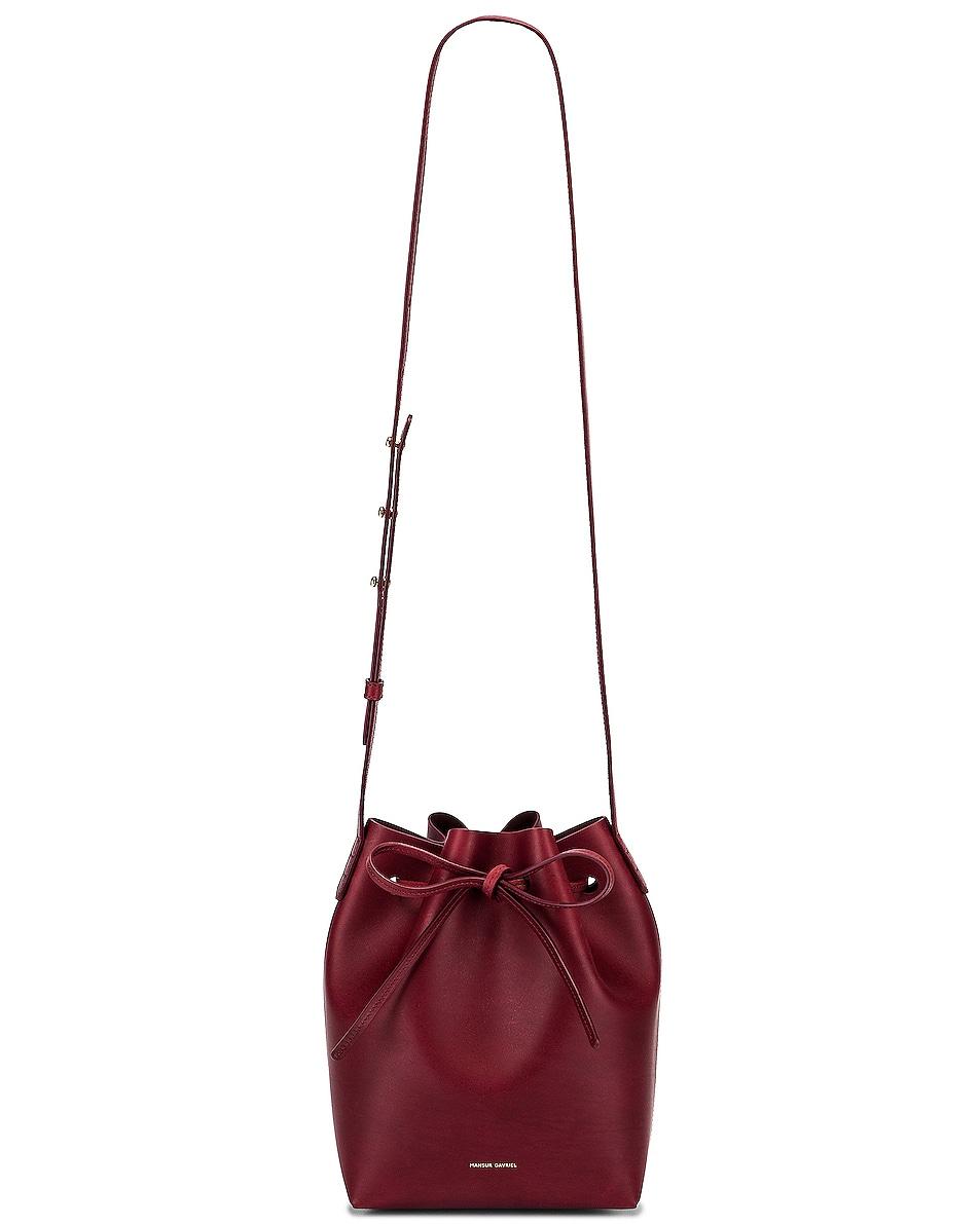 Image 6 of Mansur Gavriel Mini Bucket Bag in Bordo