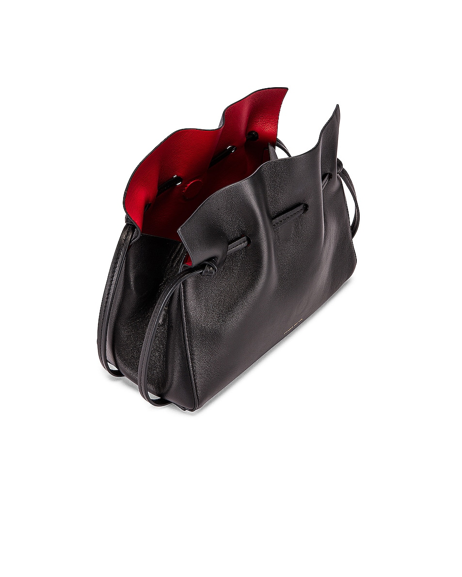Image 5 of Mansur Gavriel Mini Protea Bag in Black & Flamma