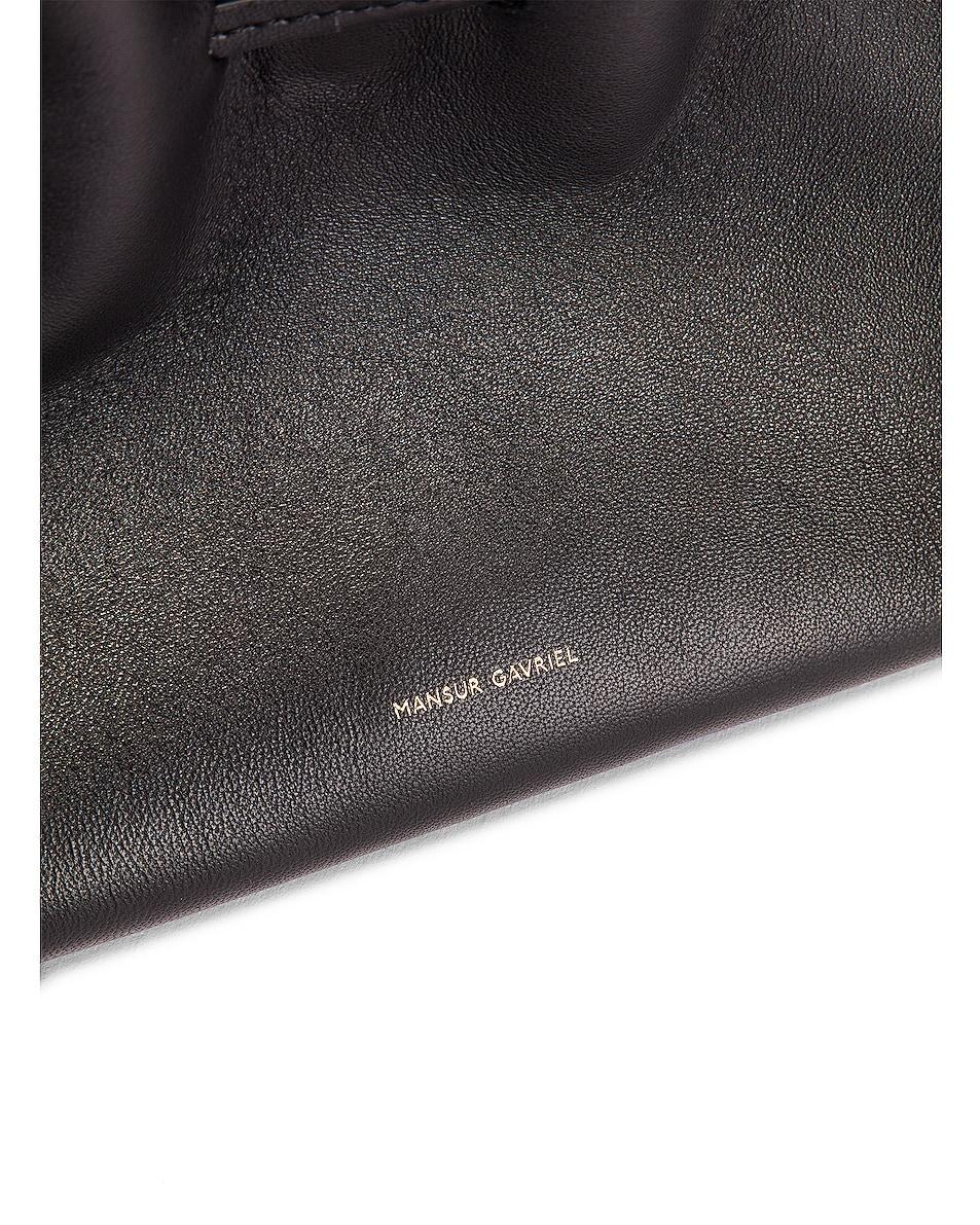 Image 7 of Mansur Gavriel Mini Protea Bag in Black & Flamma