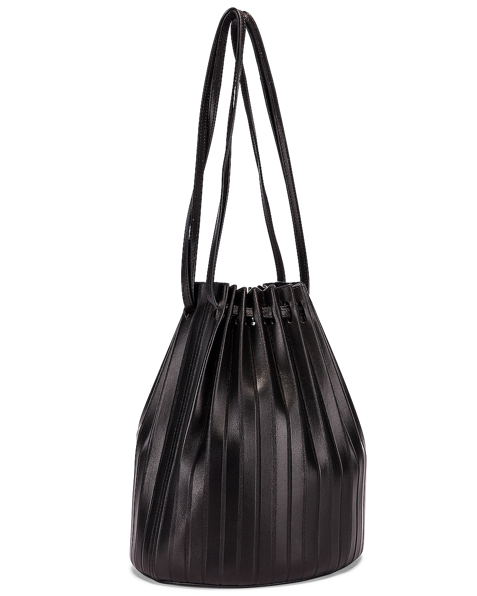 Image 4 of Mansur Gavriel Pleated Bucket Bag in Black