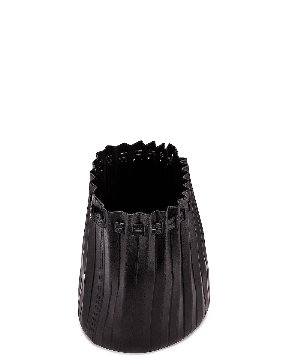 Image 5 of Mansur Gavriel Pleated Bucket Bag in Black