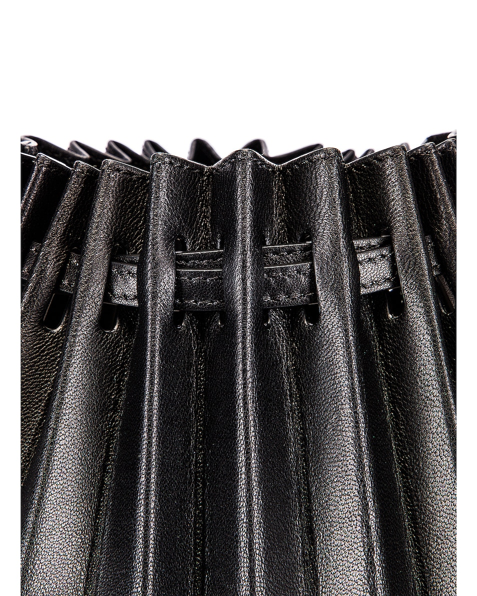 Image 8 of Mansur Gavriel Pleated Bucket Bag in Black