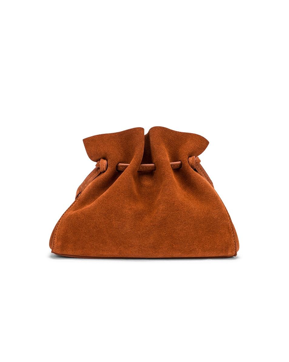 Image 2 of Mansur Gavriel Mini Protea Bag in Rust