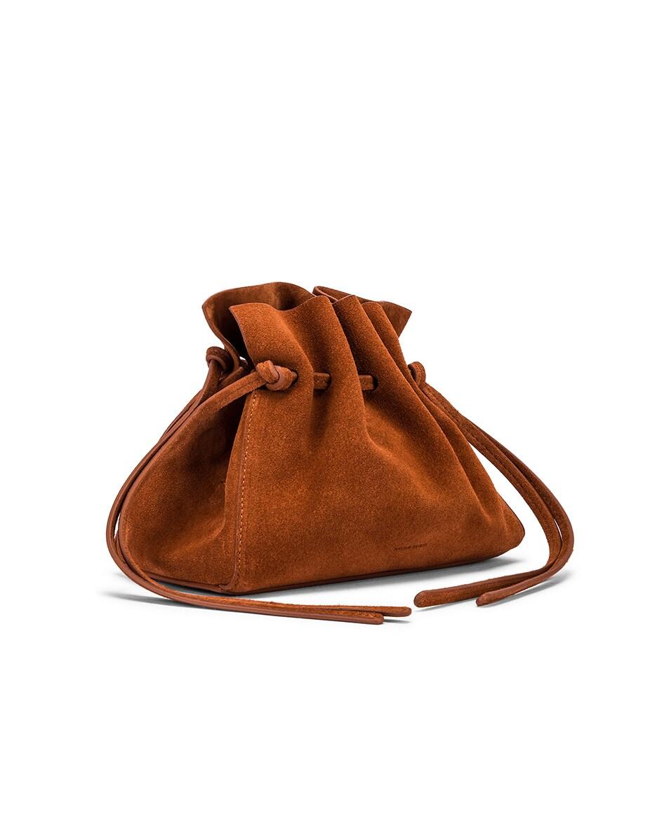 Image 3 of Mansur Gavriel Mini Protea Bag in Rust