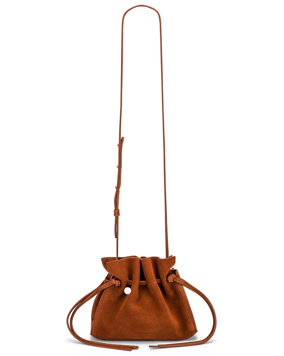Image 5 of Mansur Gavriel Mini Protea Bag in Rust