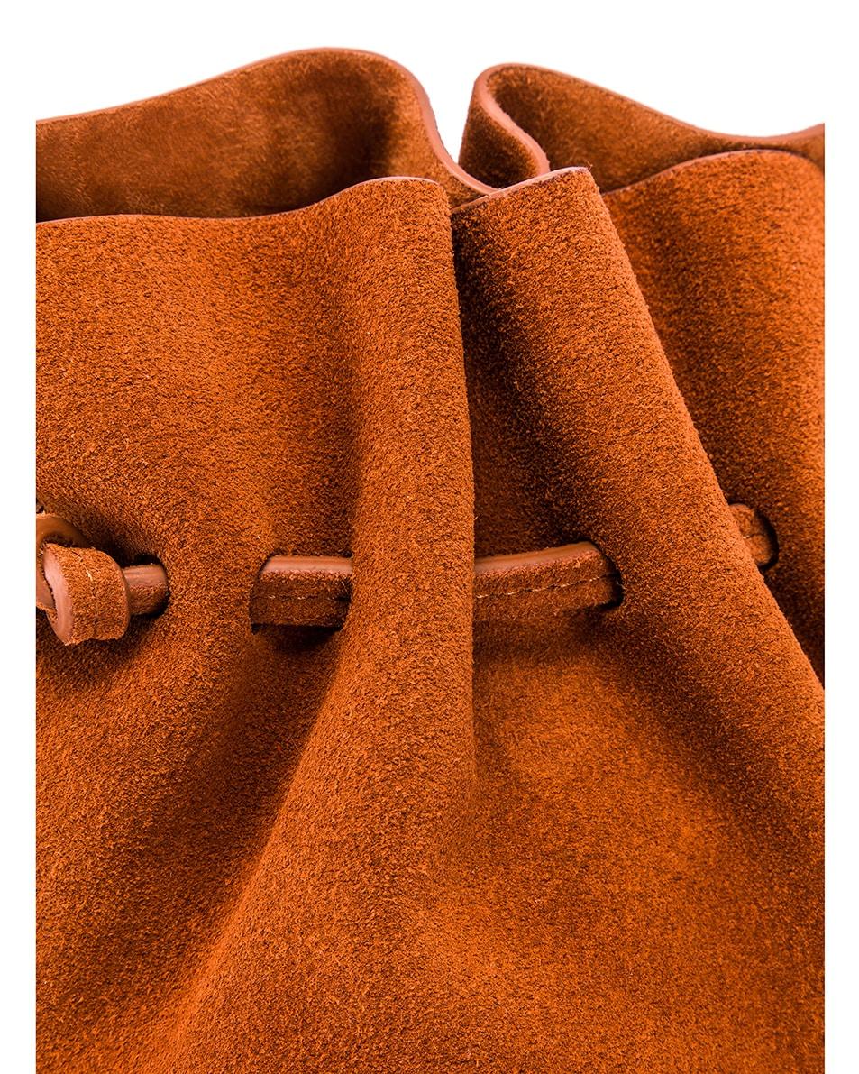 Image 7 of Mansur Gavriel Mini Protea Bag in Rust