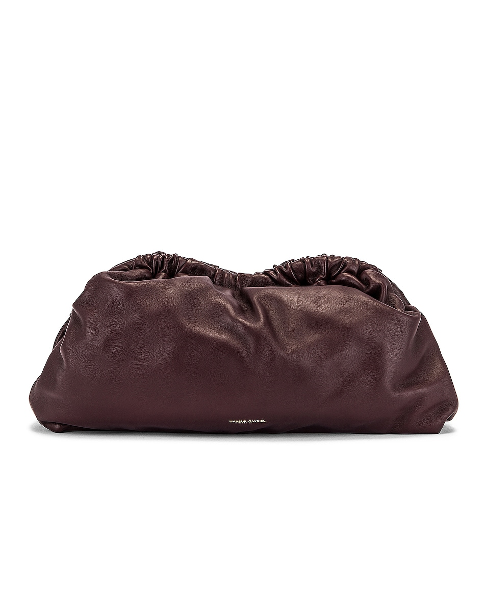 Image 1 of Mansur Gavriel Cloud Clutch in Cabernet