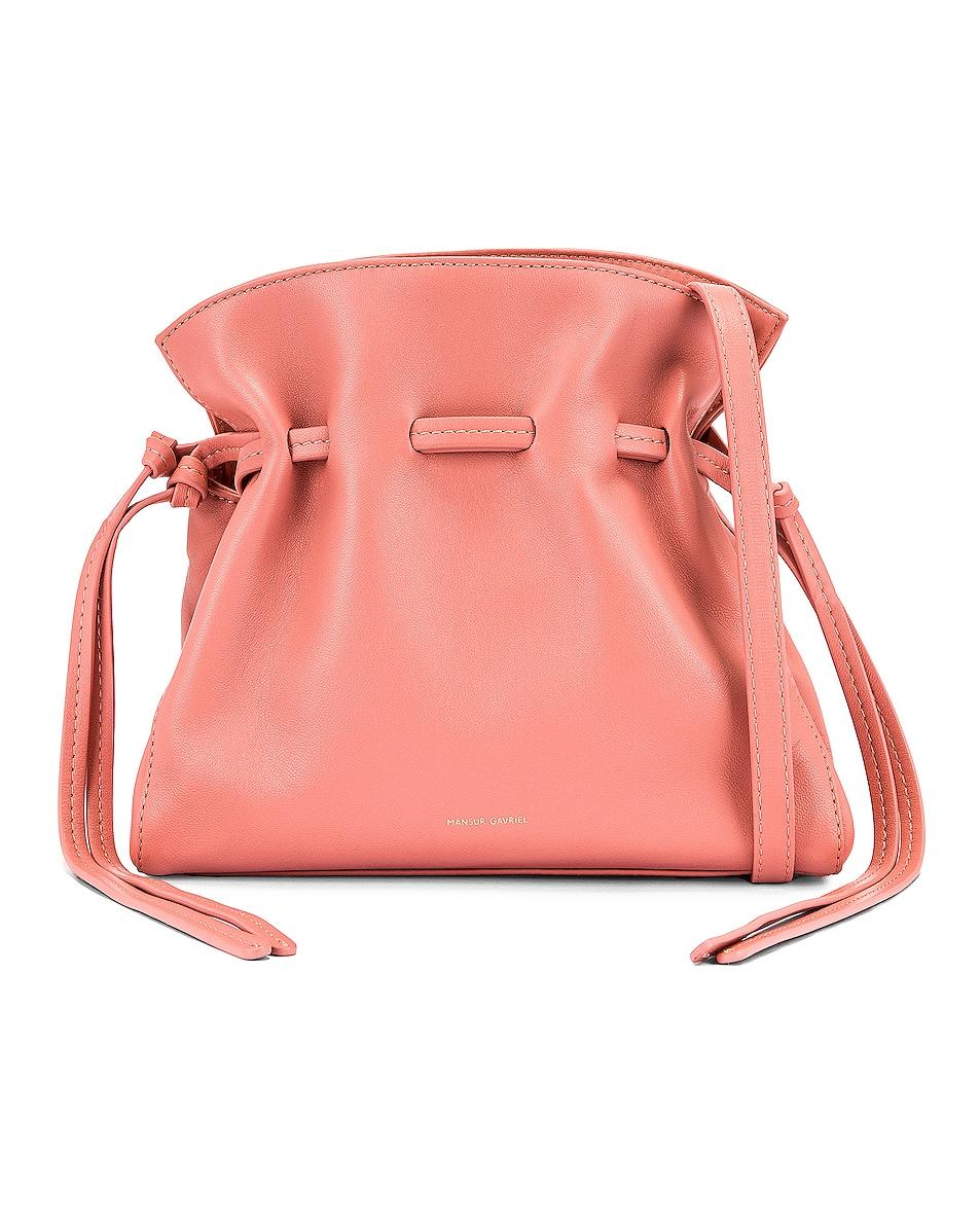 Image 1 of Mansur Gavriel Mini Protea Bag in Coral & Blush