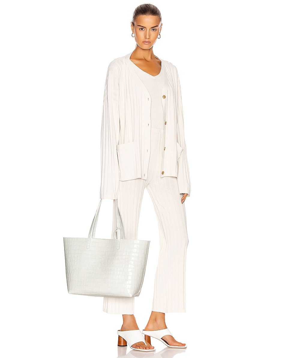Image 2 of Mansur Gavriel Large Tote in White
