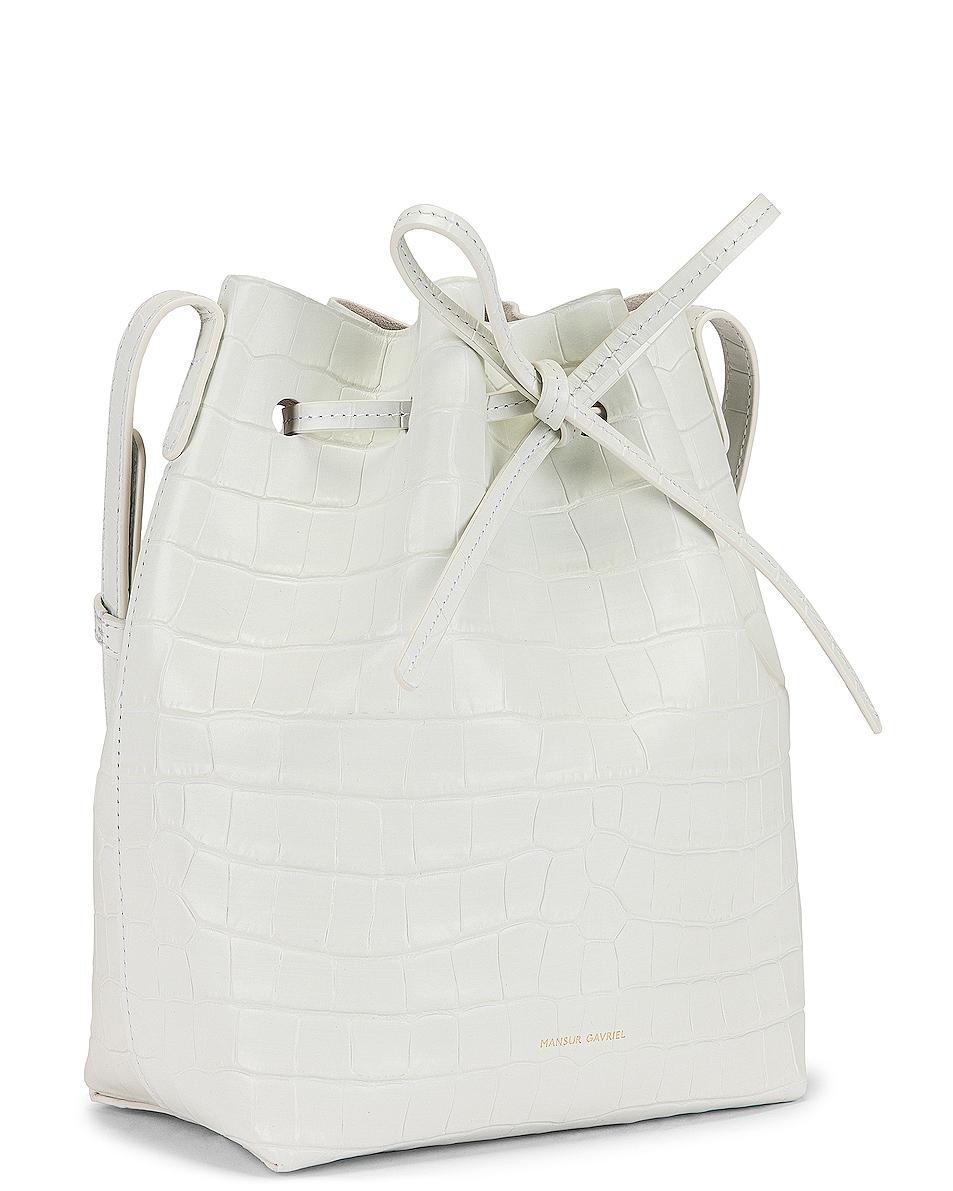 Image 4 of Mansur Gavriel Mini Bucket Bag in White