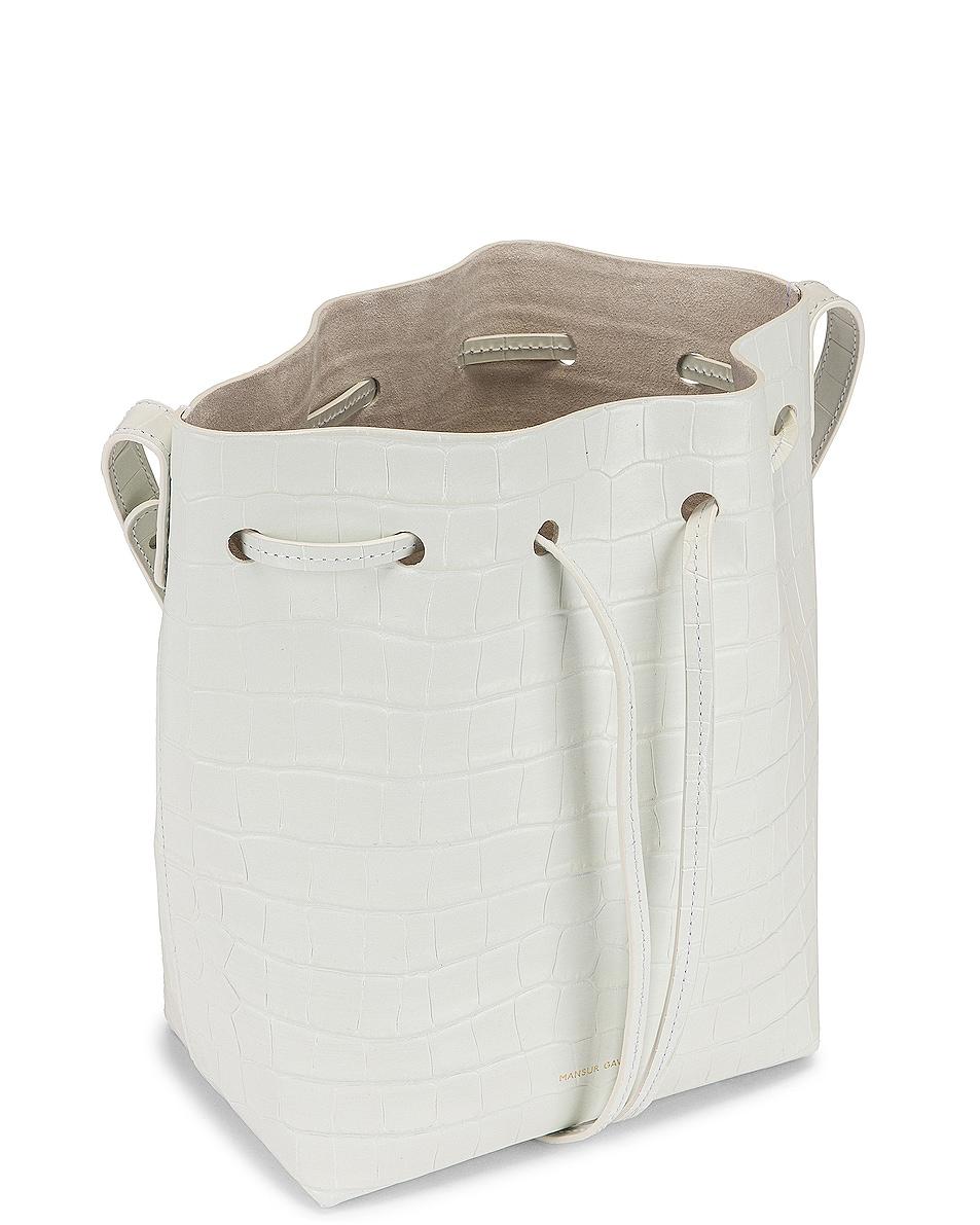 Image 5 of Mansur Gavriel Mini Bucket Bag in White