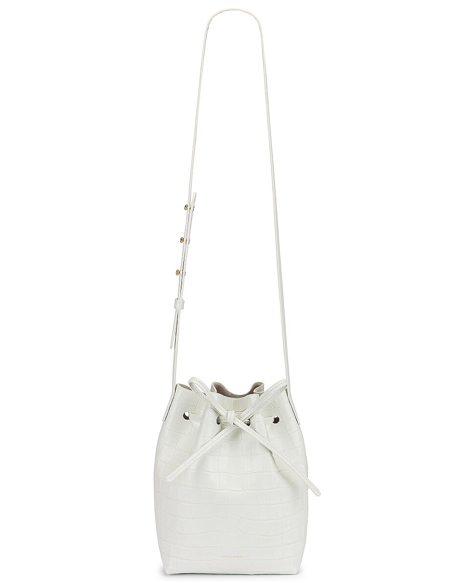 Image 6 of Mansur Gavriel Mini Bucket Bag in White