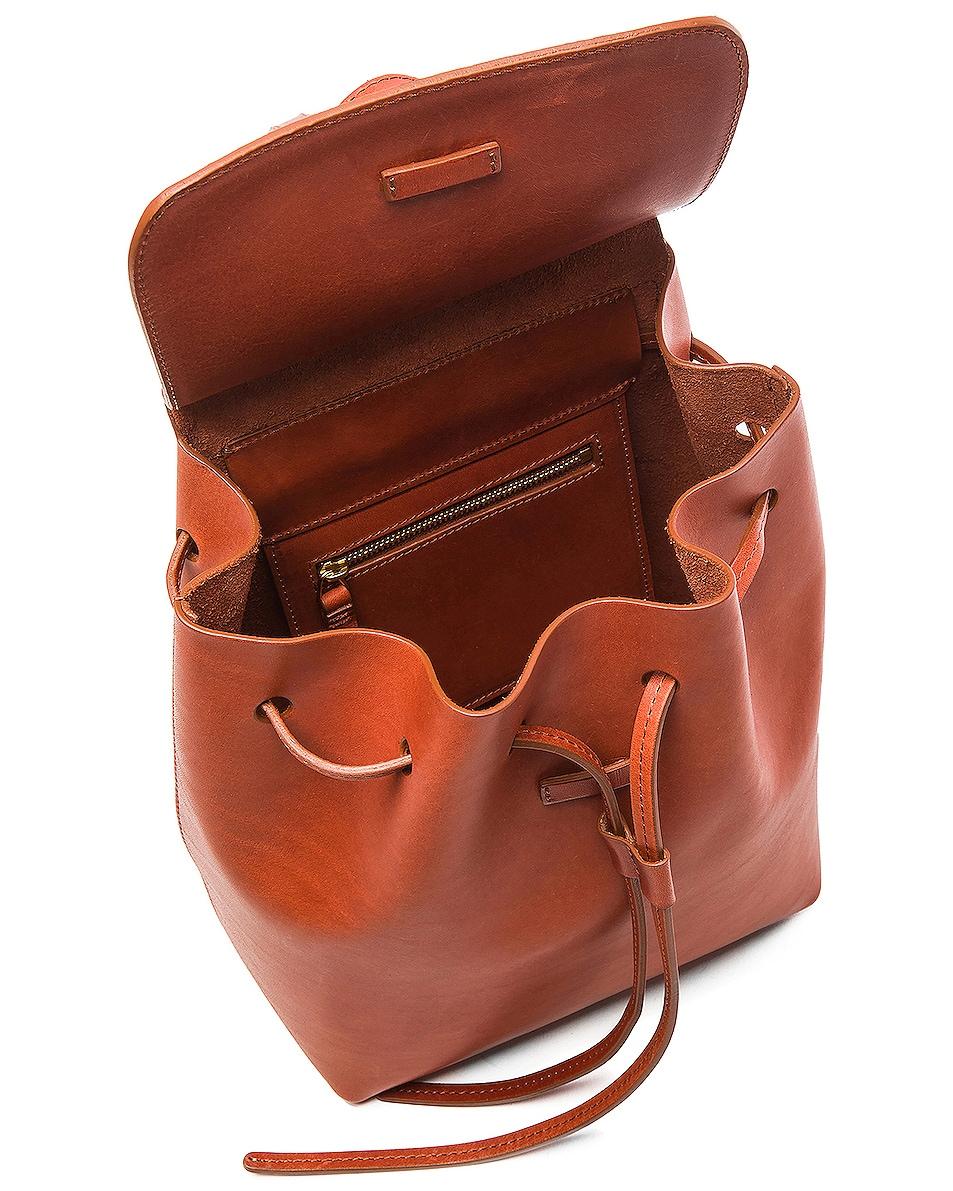 Image 5 of Mansur Gavriel Mini Backpack in Brandy