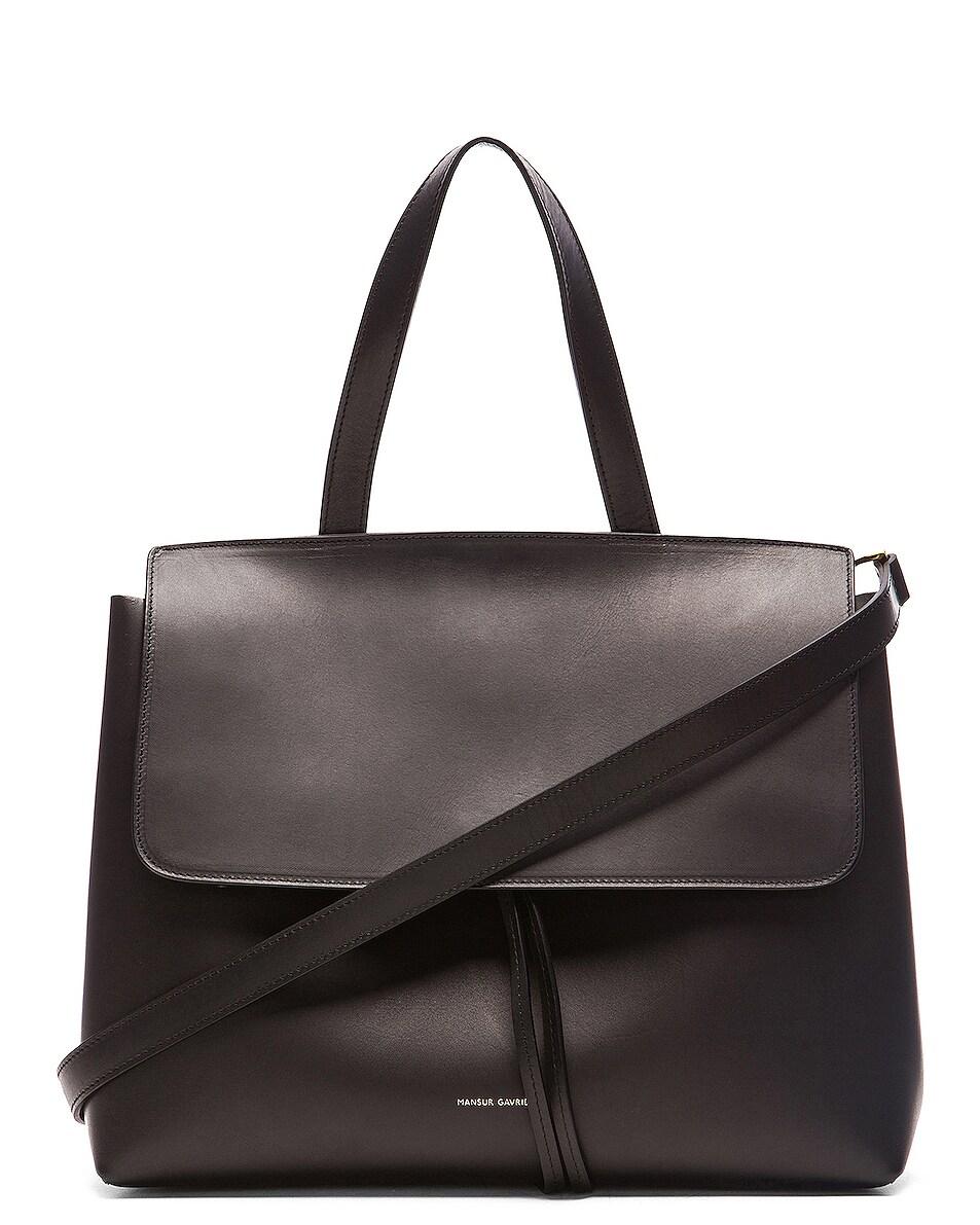 Image 1 of Mansur Gavriel Lady Bag in Black & Flamma