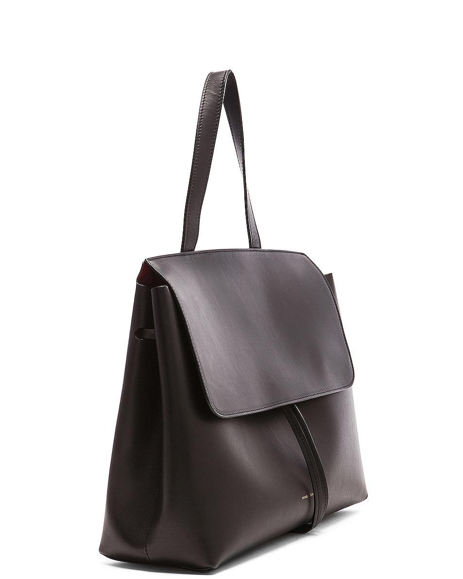 Image 4 of Mansur Gavriel Lady Bag in Black & Flamma