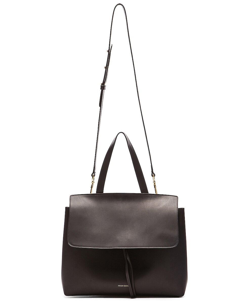Image 6 of Mansur Gavriel Lady Bag in Black & Flamma
