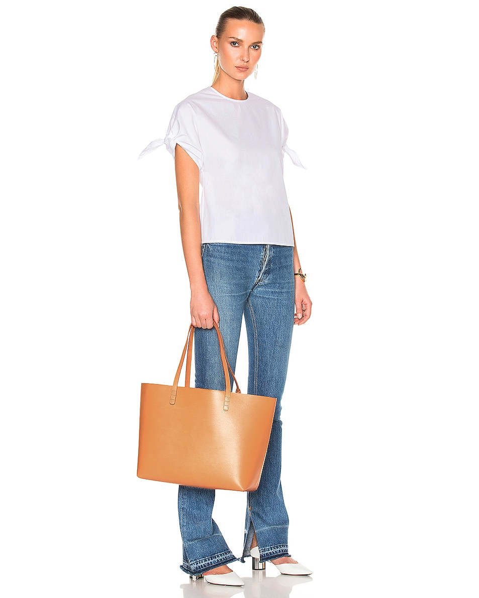 Image 2 of Mansur Gavriel Large Tote in Cammello & Rosa