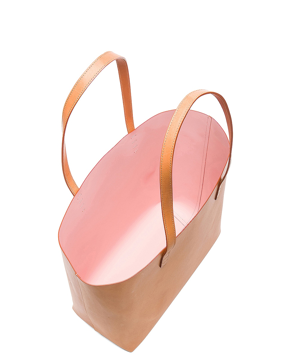 Image 5 of Mansur Gavriel Large Tote in Cammello & Rosa