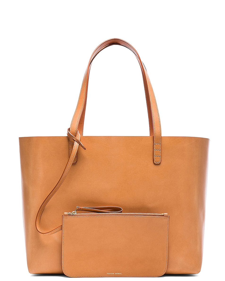 Image 6 of Mansur Gavriel Large Tote in Cammello & Rosa