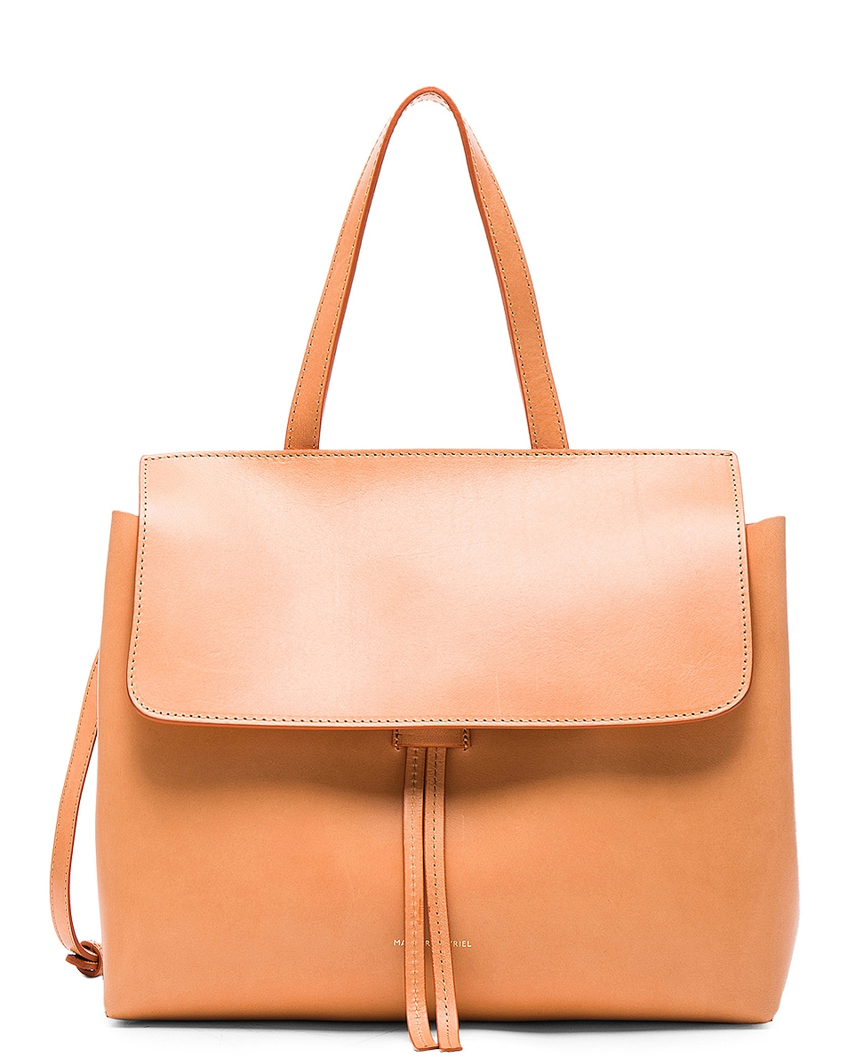 Image 1 of Mansur Gavriel Mini Lady Bag in Cammello & Rosa