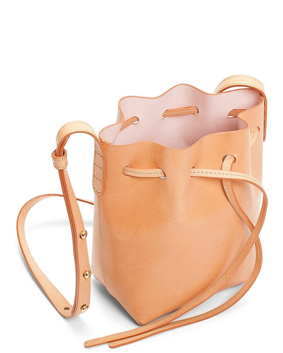 Image 4 of Mansur Gavriel Mini Mini Bucket Bag in Cammello & Rosa