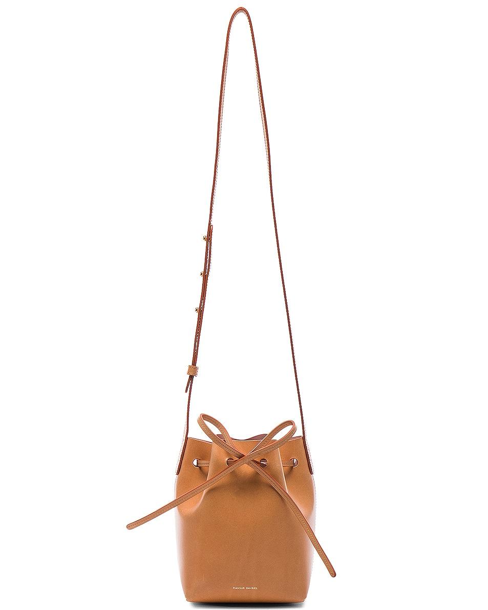 Image 6 of Mansur Gavriel Mini Mini Bucket Bag in Cammello & Rosa